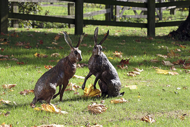 Bronze Hare Wildlife Sculptures