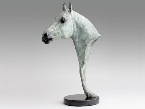 Polo Pony Bronze Head Sculpture