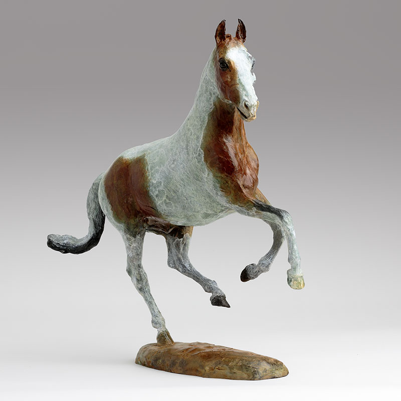 Belinda Sillars Bronze Horse Commission Red
